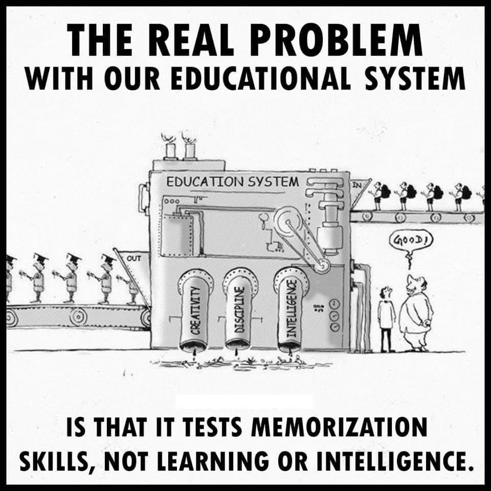 Problem with our Educational Sytem 1 - Take the Red Pill Information
