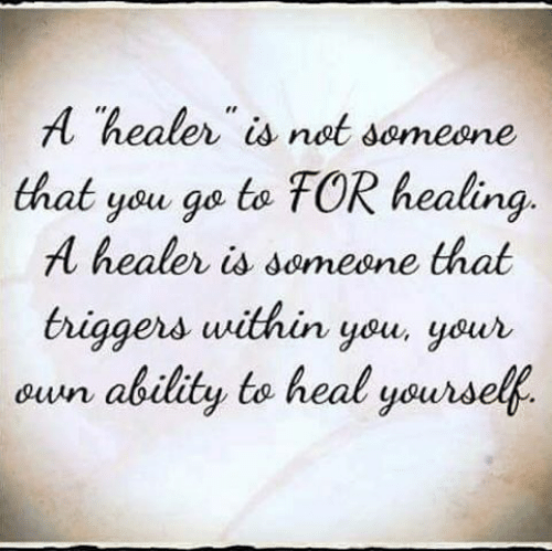 You Heal Yourself